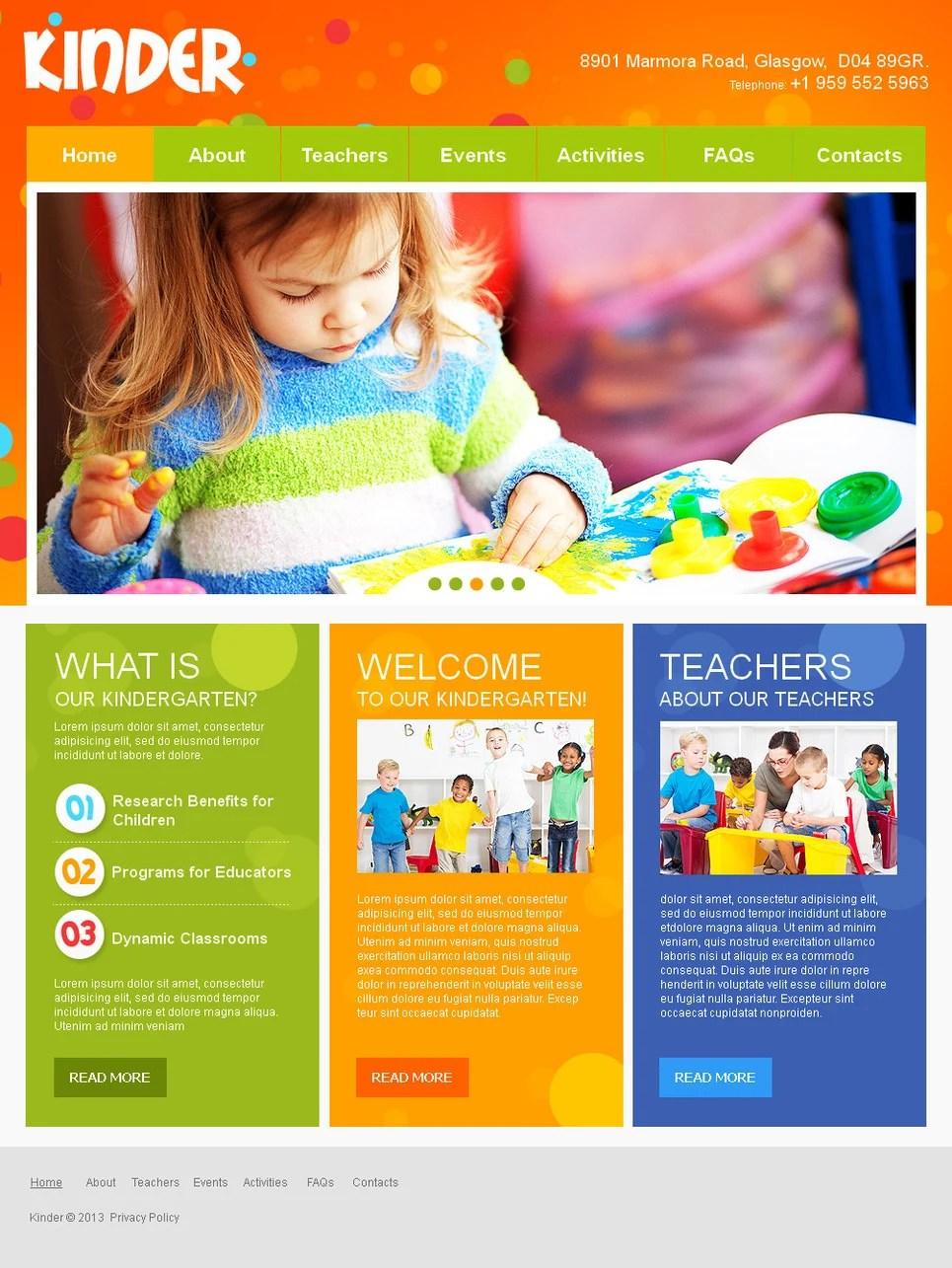 Kids Center Moto CMS HTML Template #42718