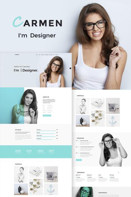 Personal Website WordPress Theme - Carmen WordPress Theme