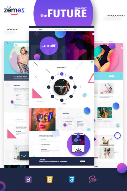 The Future - Web Design Multipurpose HTML5 Website Template