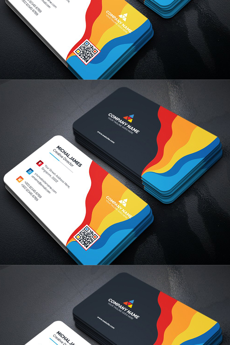 Colorful Modern Business Card Template