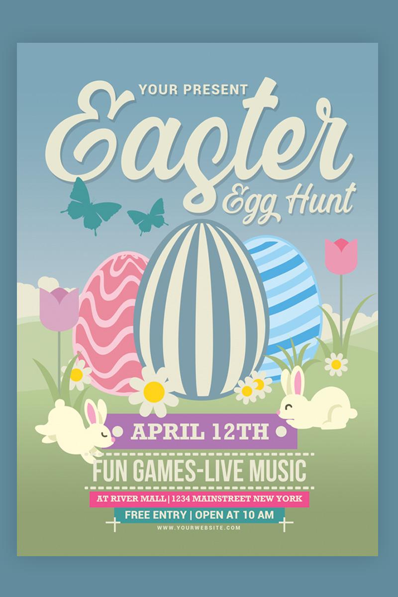 Easter Egg Hunt Flyer Template