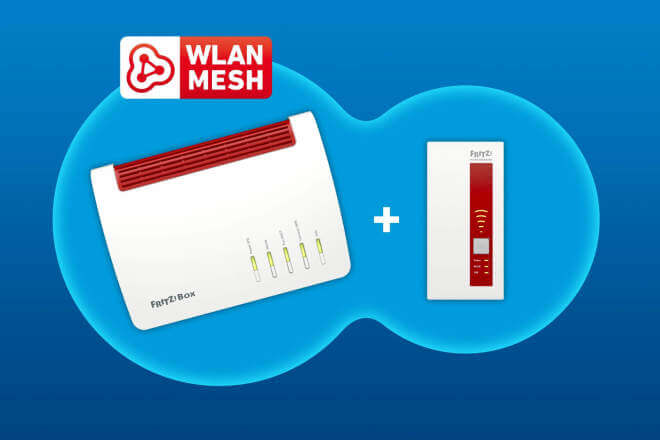 AVM Mesh-Set FritzBox 7590 and WLAN Repeater 1750E