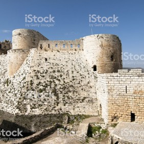 Crac des chevaliers - ruins of a castle in Syria