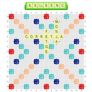 partida, duplicda, scrabble, català, com es juga, jugar, aprendre, educatiu, pedagògic