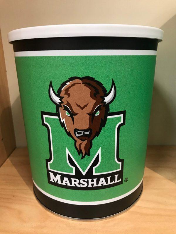 Marshall University Popcorn Tin