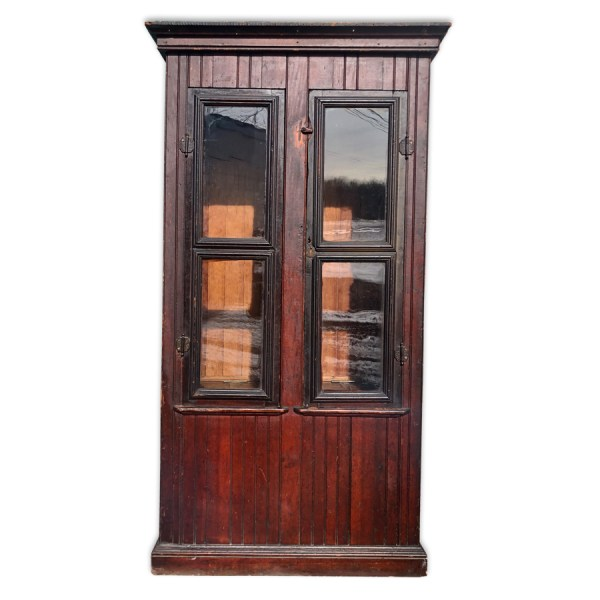19th Century English Farmhouse Coat Armoire Cabinet - Scranton Antiques