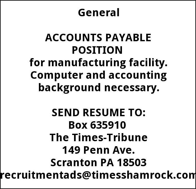 Accounts Payable, Human Resources