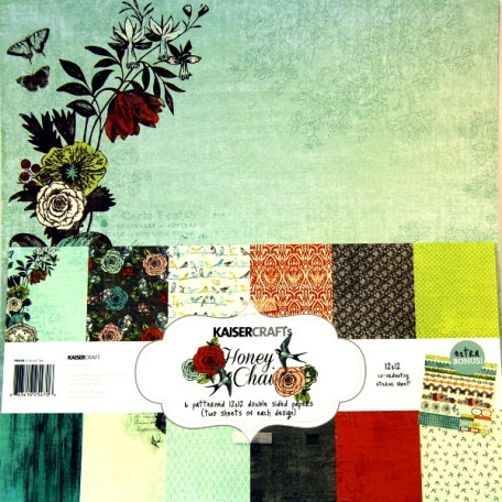 Bloc 12 hojas papel scrap 30x30 Kaiser Craft,cardmaking,scrapbook