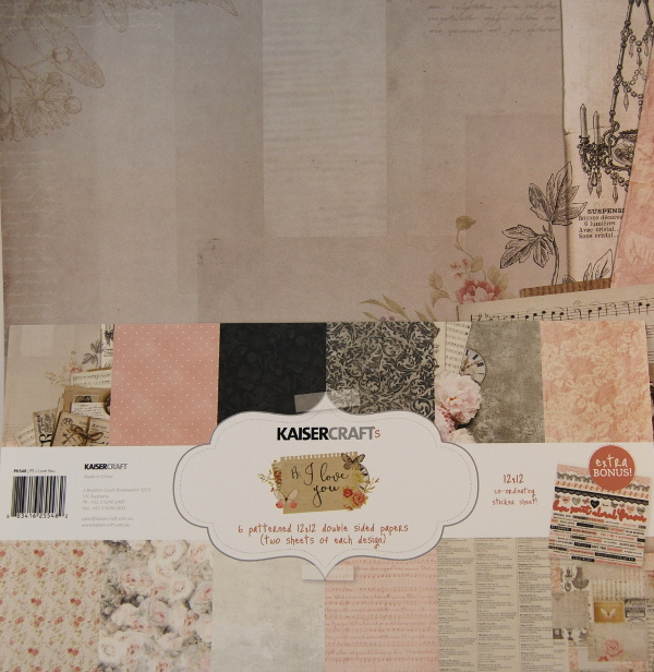 Bloc 12 hojas papel scrap decorado Kaiser Craft cardmaking,scrapbooking