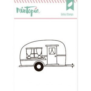 sello scrap caravana, sello scrapbooking caravana, sello cardmaking caravana, sello manualidades caravana, sello scrap verano
