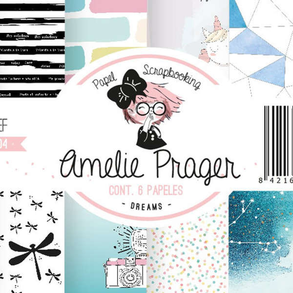 "Stack papel scrap Amelie ""Dreams"""