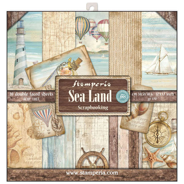 "Stack papel scrap ""Sea Land"" STAMPERIA"