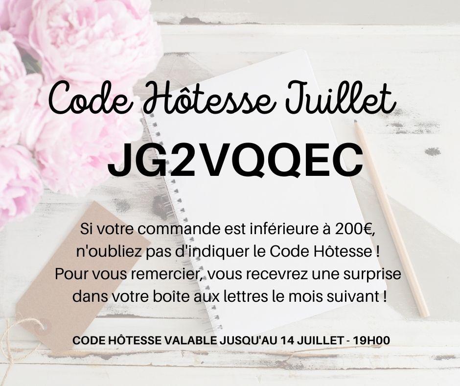 Code Hôtesse Juillet 2021