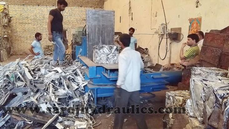 aluminium baling press is build for pressing scrap like