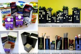 A variety of family-friendly ways to reuse all those cardboard cartons.