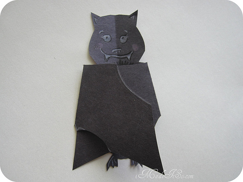 Tutorial And Freebie Folding Wings Bat Card Scrap Booking