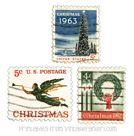 graphic about Printable Postage known as Totally free Printable Typical Xmas Postage Stamps S