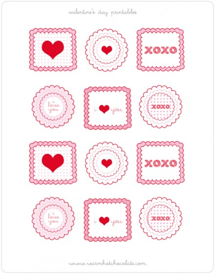 Free Valentine Printables from Warm Hot Chocolate