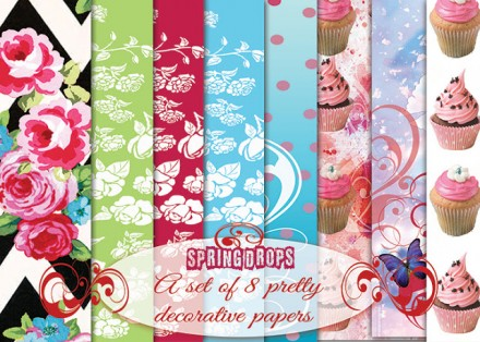 picture about Printable Decorative Paper named Freebie Attractive Papers for Paper Crafts or Reward