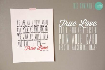 Free printable Poster Robert Fulghum's true Love Quote