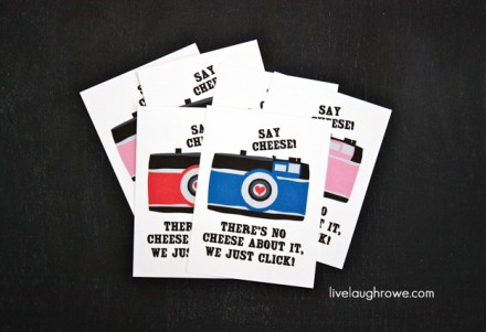Say Cheese Valentine's Printables from Live Laugh Rowe