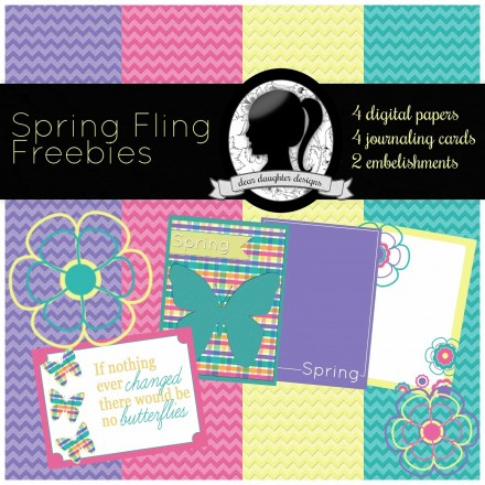 Spring Fling Free Mini Digi Kit from Dear Daughter Designs