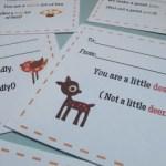 valentine's Deer printables