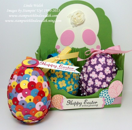 Easter Egg Tutorial video from Stamp With Linda Walsh