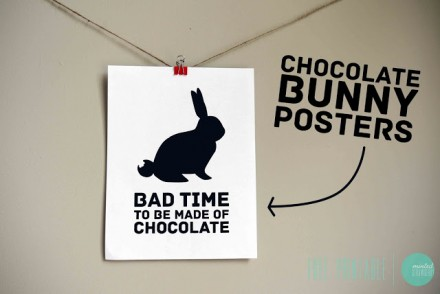 Free Printable Chocolate Bunny Posters from Minted Strawberry