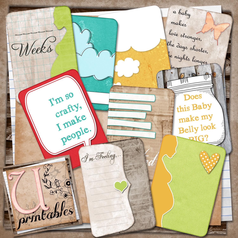 Scrapbook journaling ideas free - 8 Summer Scrapbook Printables Freebie Pregnancy Journaling Cards From U Printables