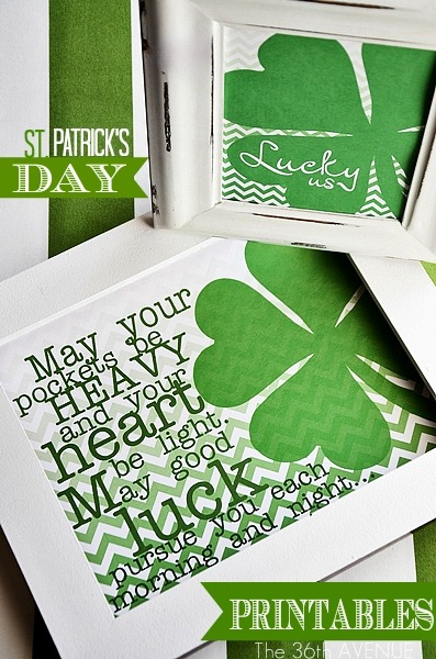 St. Patrick's Day Printables from 36th Avenue