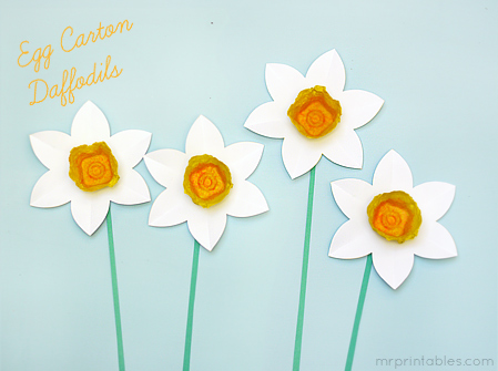 spring-crafts-for-kids-egg-carton-daffodils by Mr. Printables