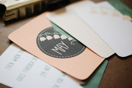 Free Printable May Journaling Cards for Project Life from Wild Olive