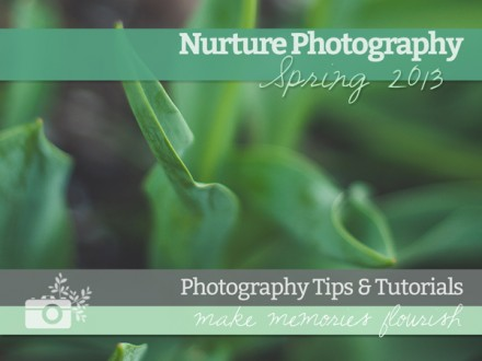 Free e-book - Nurture Photography Tips & Tutorials