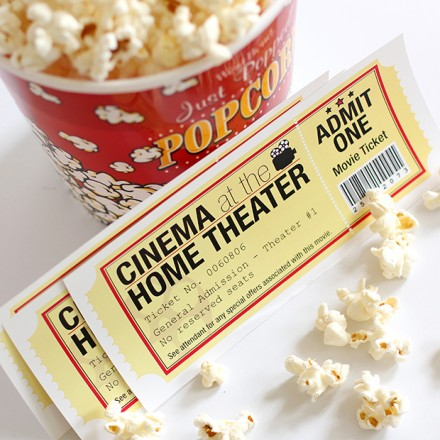 Free printable Movie night tickets from Dabbles and Babbles