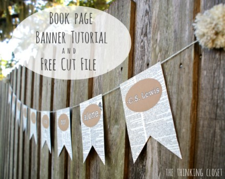 Tutorial - Book Page Banner from The Thinking Closet