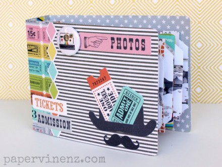 Tutorial - Midway Mini Album by Lowri McNabb of PaperVine