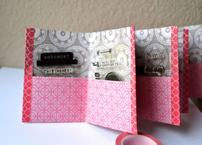 Tutorial - Mini Album Stamp Organizer from An Ounce of Creativity
