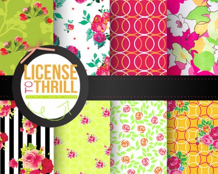 Free printable paper pack from Craft a doodle doo LICENSE TO THRILL (MAIN)