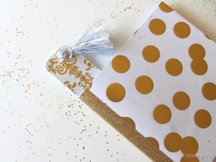 Tutorial - Glitter Covered Mini Notebook from  {homework}