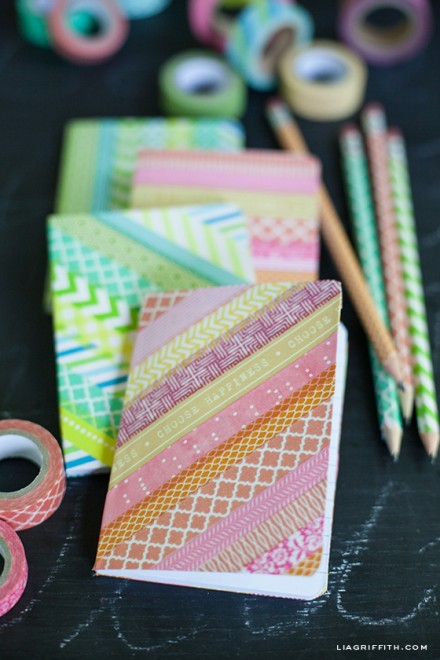 DIY - Washi Tape Notebooks and Pencils by Lia Griffth