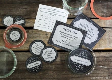 Freebie - Chalkboard Freezer and Canning Labels by Lia Griffith