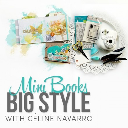 Giveaway   Celine Navarro's MiniBook Class at Two Peas in a Bucket