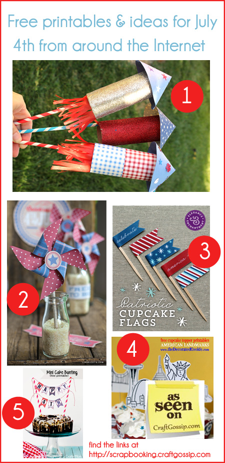 5 Craft Ideas and Free Printables for July 4th