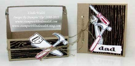 Tutorial - Toolbox Mini Scrapbook by Linda Walsh
