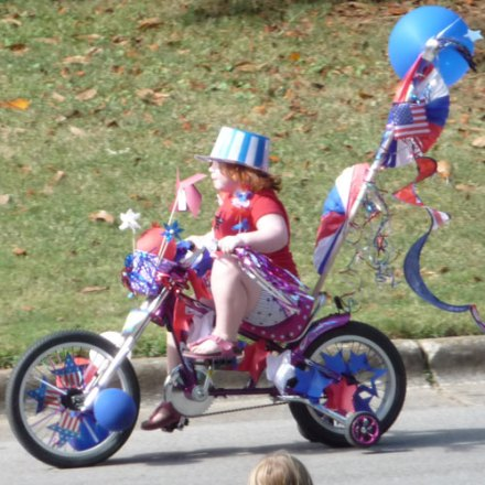 host a kids bicycle parade for July 4th -