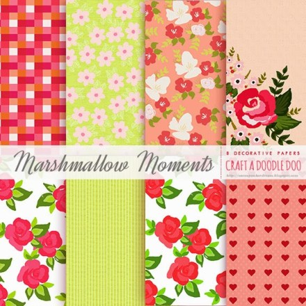 Freebie - Printable Paper Set - Marshmallow Moments from Craft a Doodle Doo