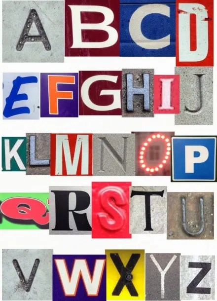 Local Letter Alphabet by Buttons and Paint