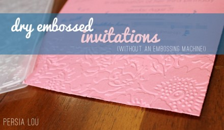 Tutorial - Dry Embossing Without an Embossing Machine
