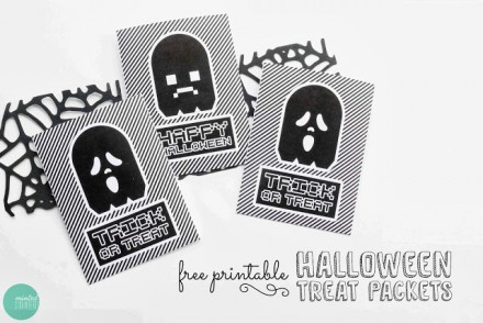 Free Printable Halloween Treat Packets from Minted Strawberry